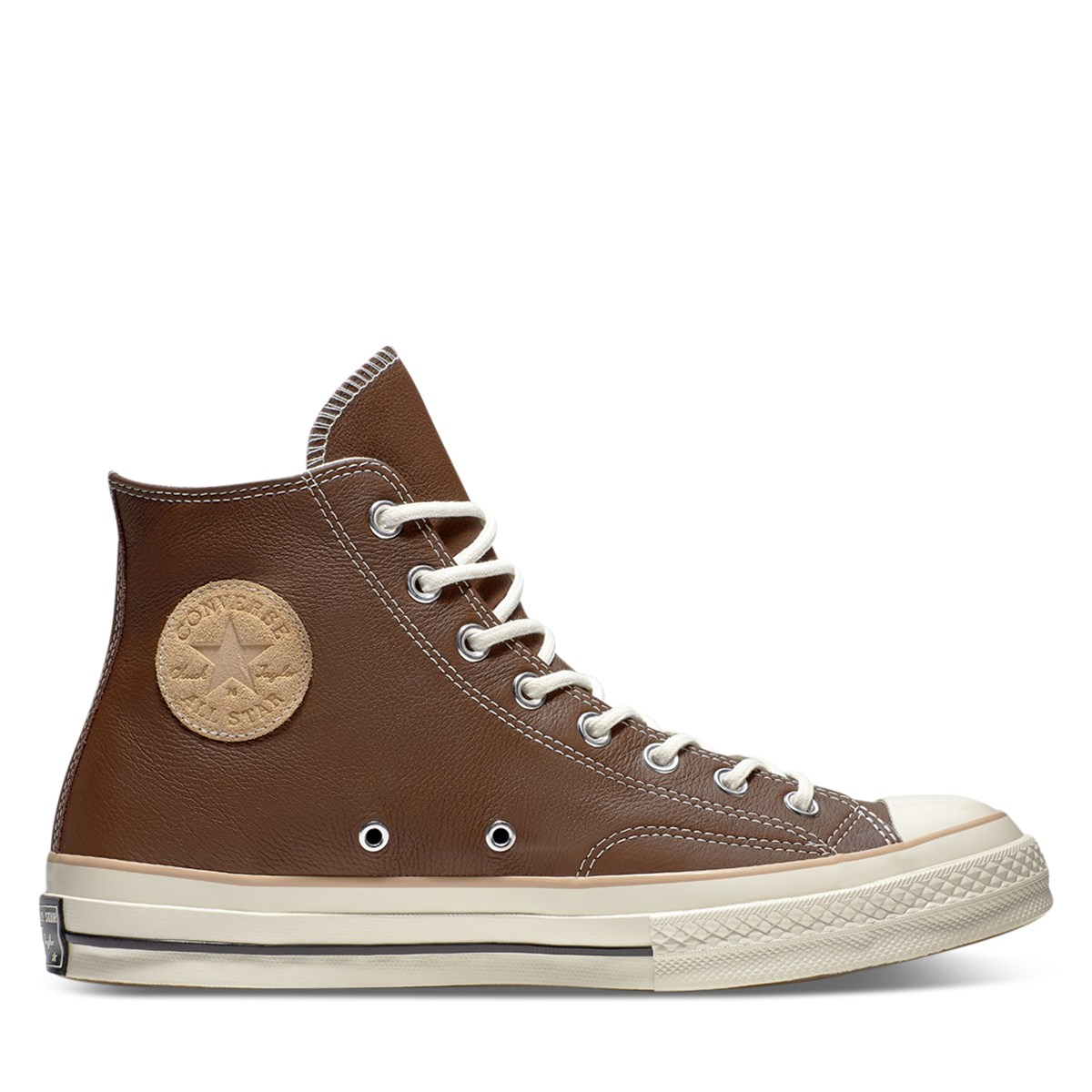 Men's Chuck 70 Hi Leather Sneakers in Brown