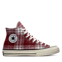 Women's Chuck Taylor All Star 70 High Top Sneakers in Red Plaid