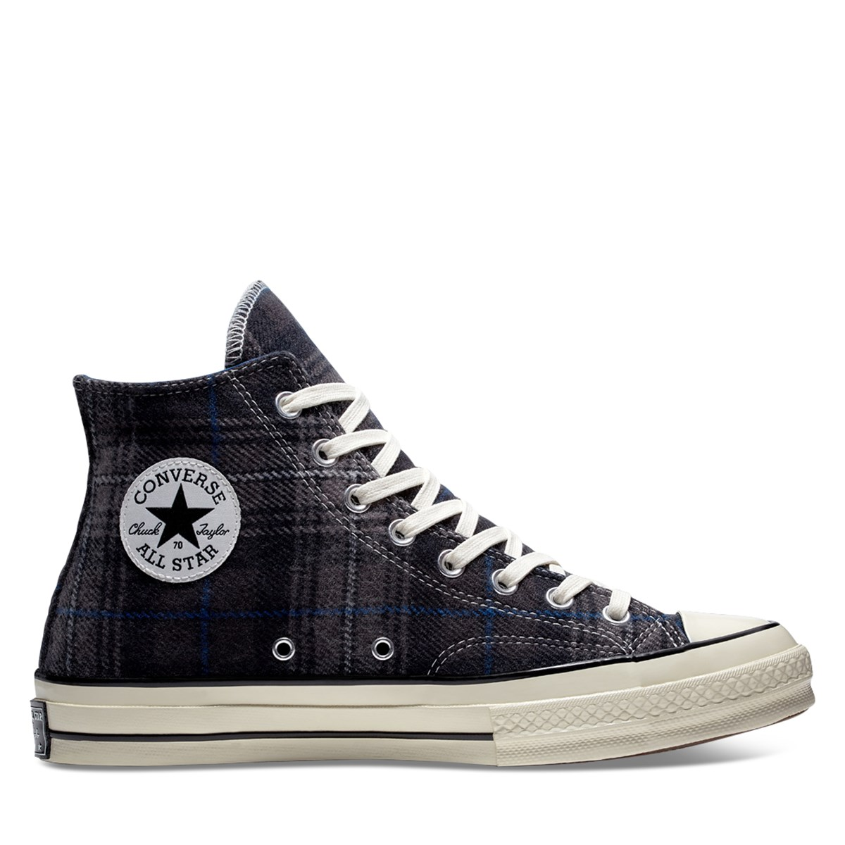 Women's Chuck Taylor All Star 70 High Top Sneakers in Black Plaid
