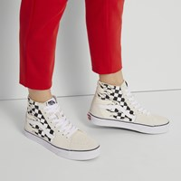 Women's SK8-HI Sneaker in Checker Flame White