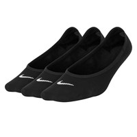 Women's Everyday Lightweight Footie Socks in Black