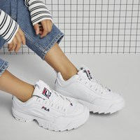 Women's Disruptor II Premium Sneakers in White
