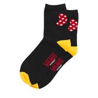 Women's Minnie Bow Crew Socks in Black