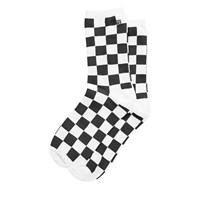 Women's Checkerboard Ticker Socks
