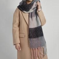 Foulard gris et rose