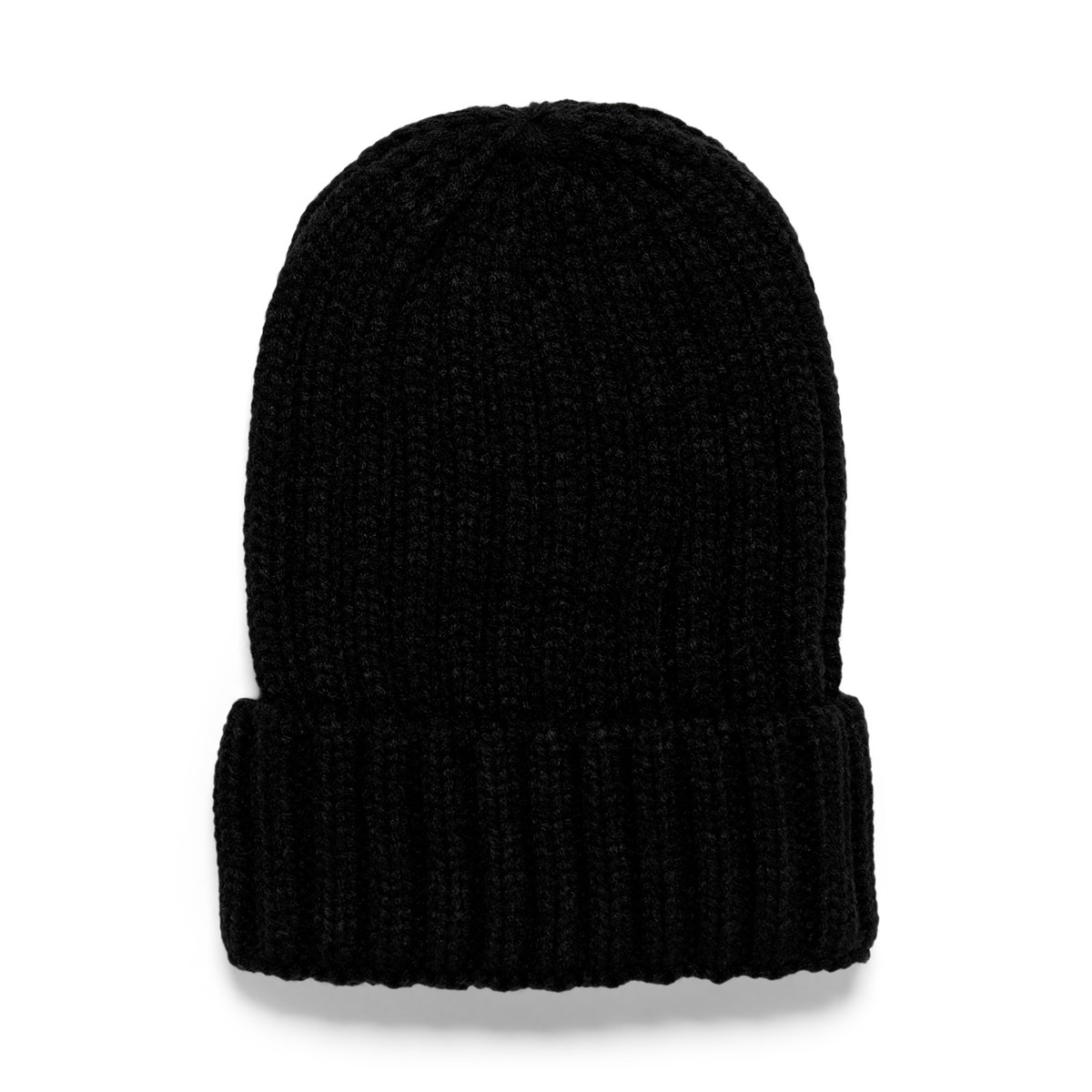 Women's Rib Knit Beanie in Black