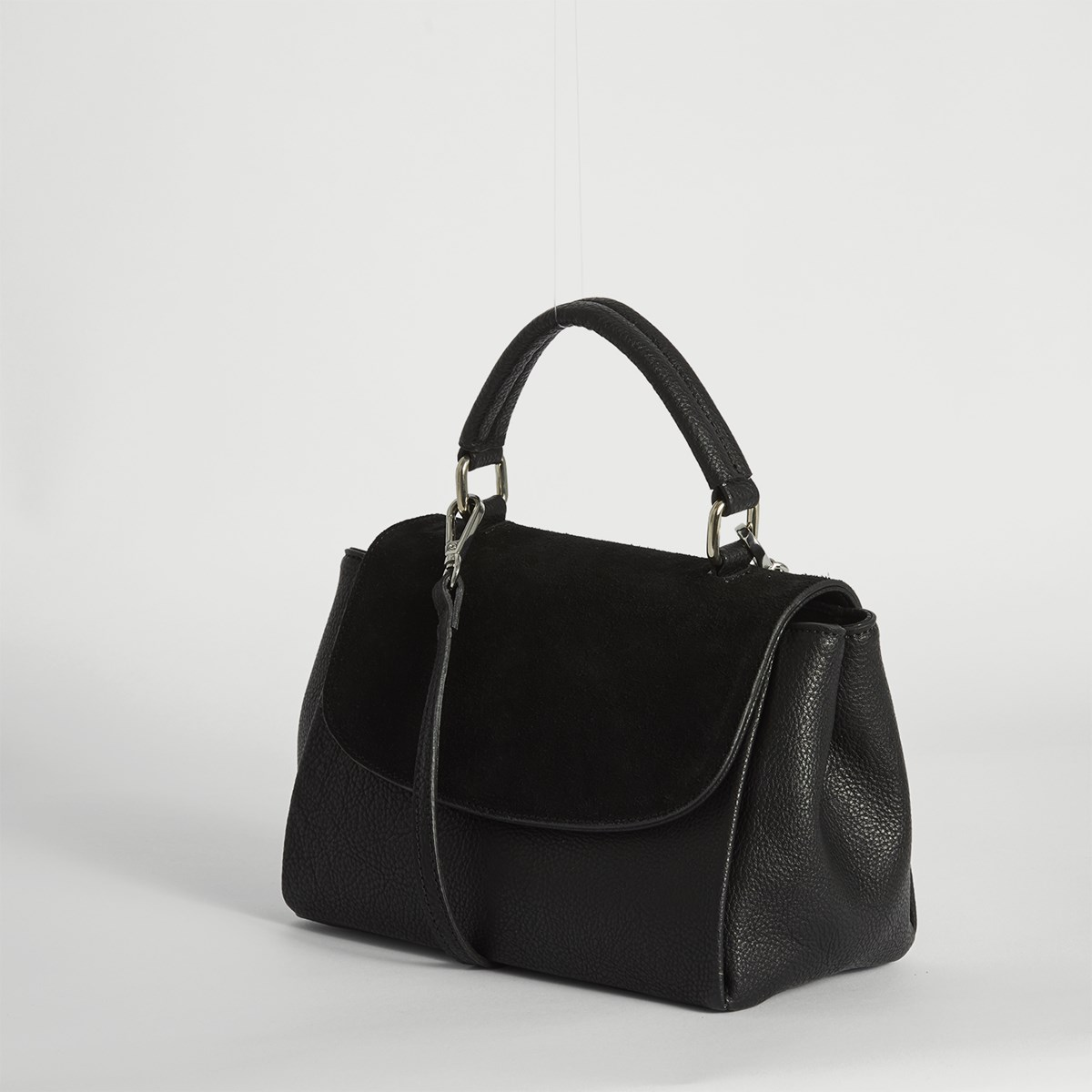 Women's Top Handle Crossbody Bag in Black