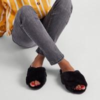 Pantoufles Mayberry noires pour femmes