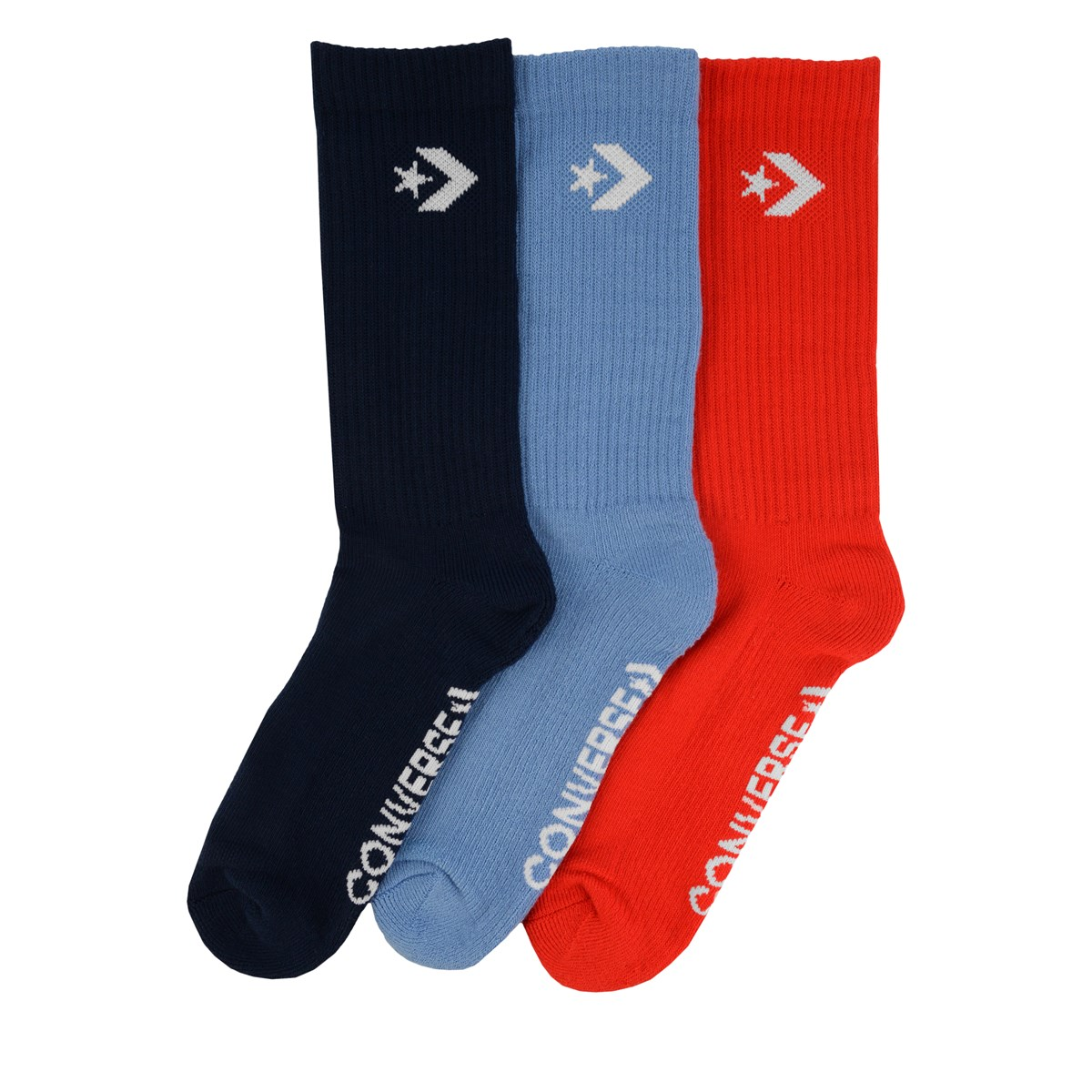 Women's 3 Pair Pack of Classic Star Chevron Socks in Blue