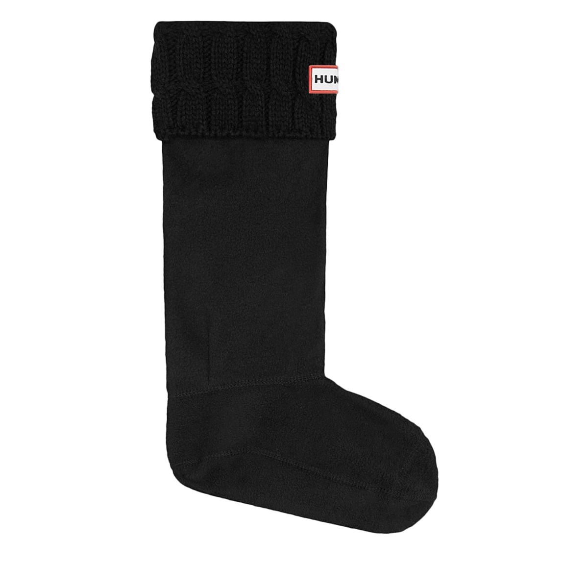 Women's 6-Stitch Cable Boot Socks in Black