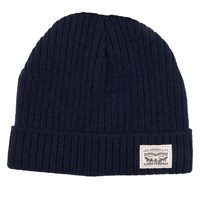 Knit Cuff Beanie in Navy
