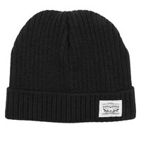 Knit Cuff Beanie in Black