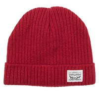 Knit Cuff Beanie in Red