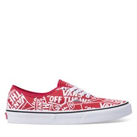 Men's Authentic Sneaker in Red
