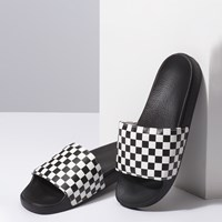Men's Checkerboard Slides