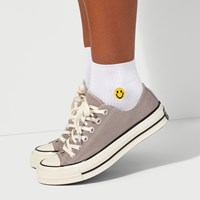 Women's Smiles Socks in White