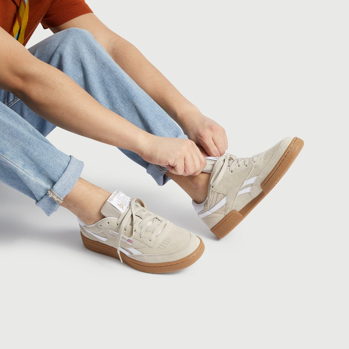 Men's Revenge Plus MU Sneaker in Beige