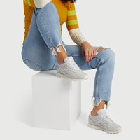 Women's Classic Leather Sneakers in Grey