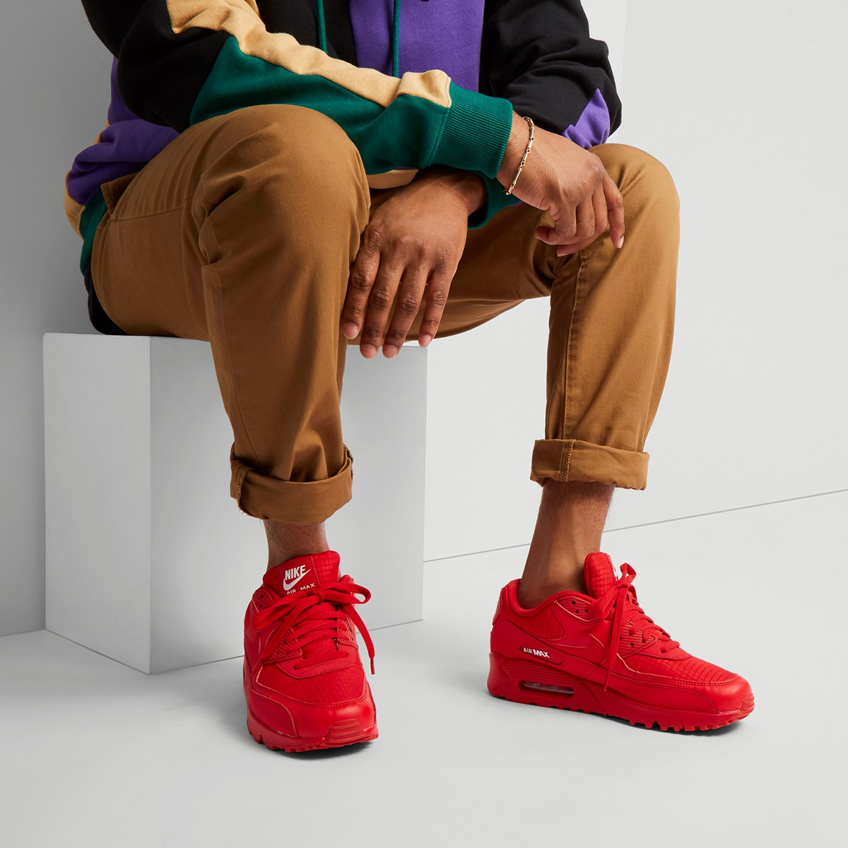 Baskets Air Max 90 Essential rouges pour hommes