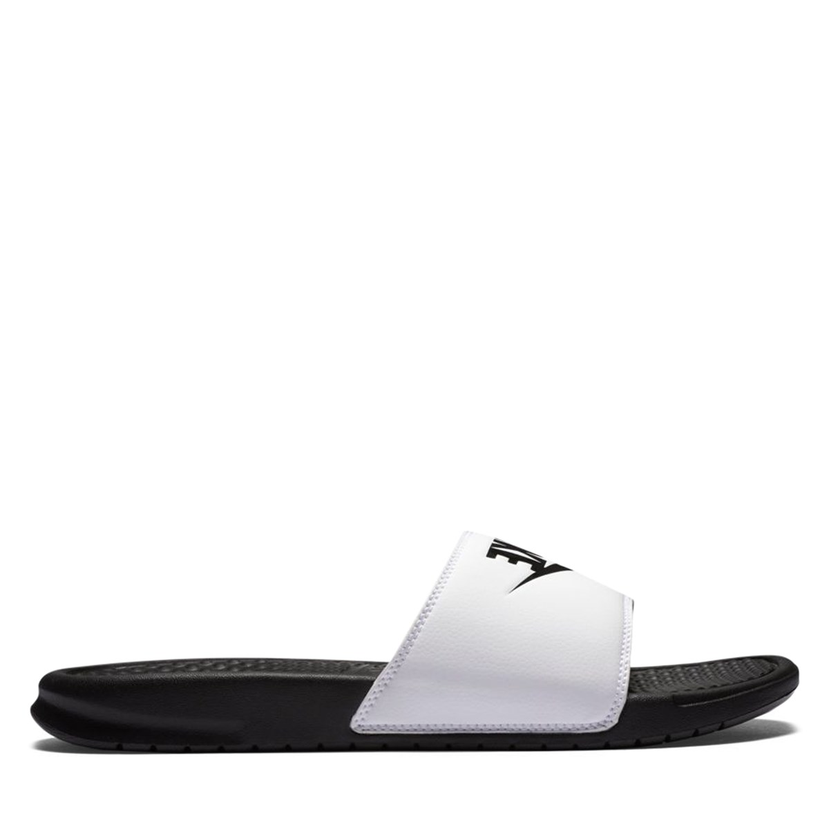 Men's Benassi Slides in White