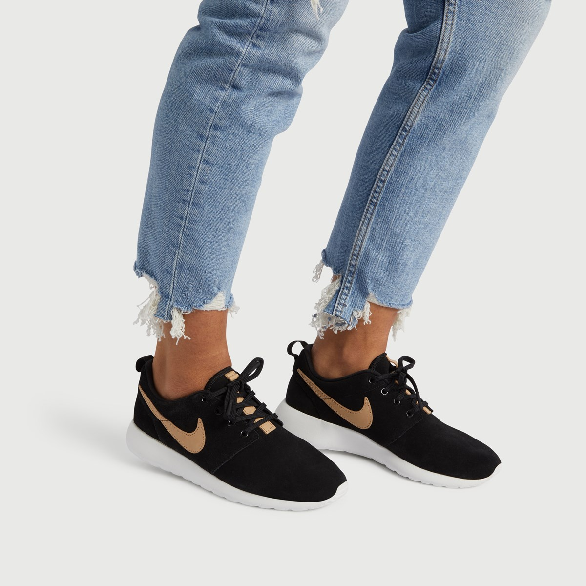 sports shoes cab79 8790b LB Exclusive Womens Roshe One Premium Sneaker in Black. Previous. default  view ...