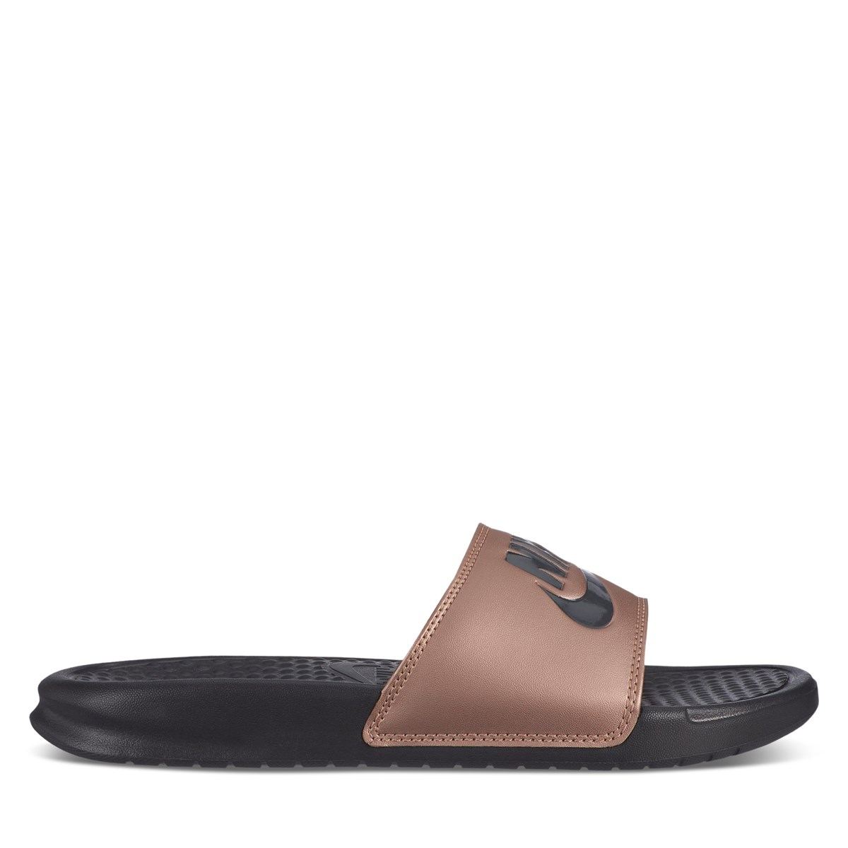 Women's Benassi JDI Slides in Rose Gold