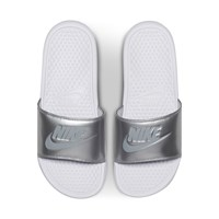 Women's Benassi JDI Slide in Silver
