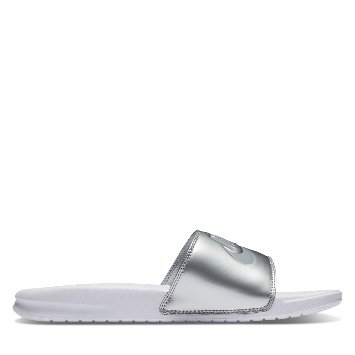 Women's Benassi JDI Slide in Silver