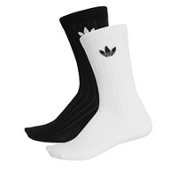 Women's 2 pair pack of mid ribbed crew socks