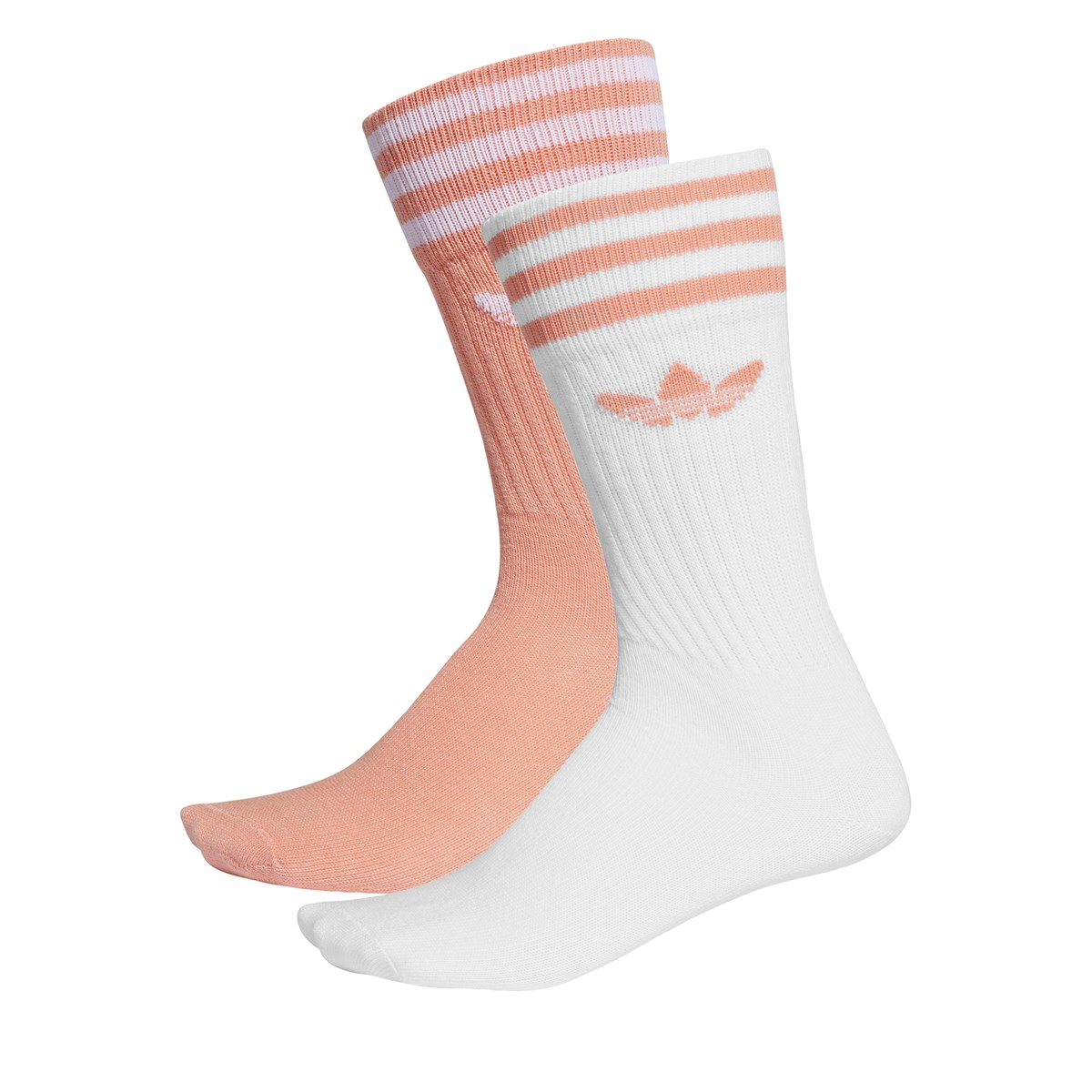 Women's 2 pair pack of ribbed crew socks