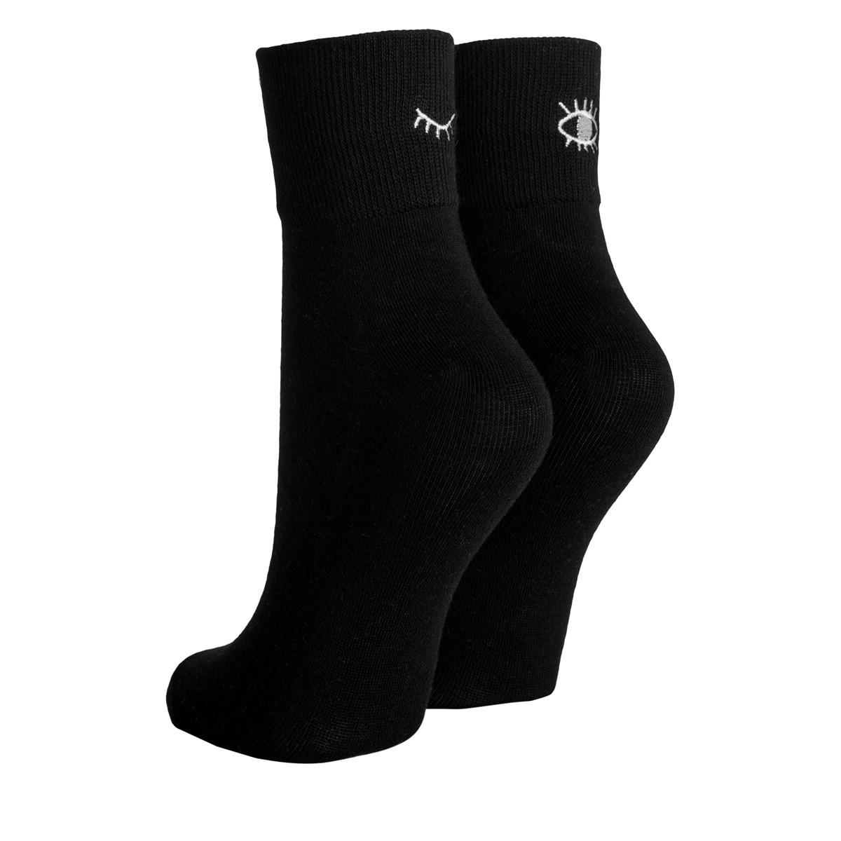 Women's Blink Ankle Socks in Black