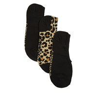 Women's 3 Pair Pack MFC OX Utlra Hidden Socks in Leopard