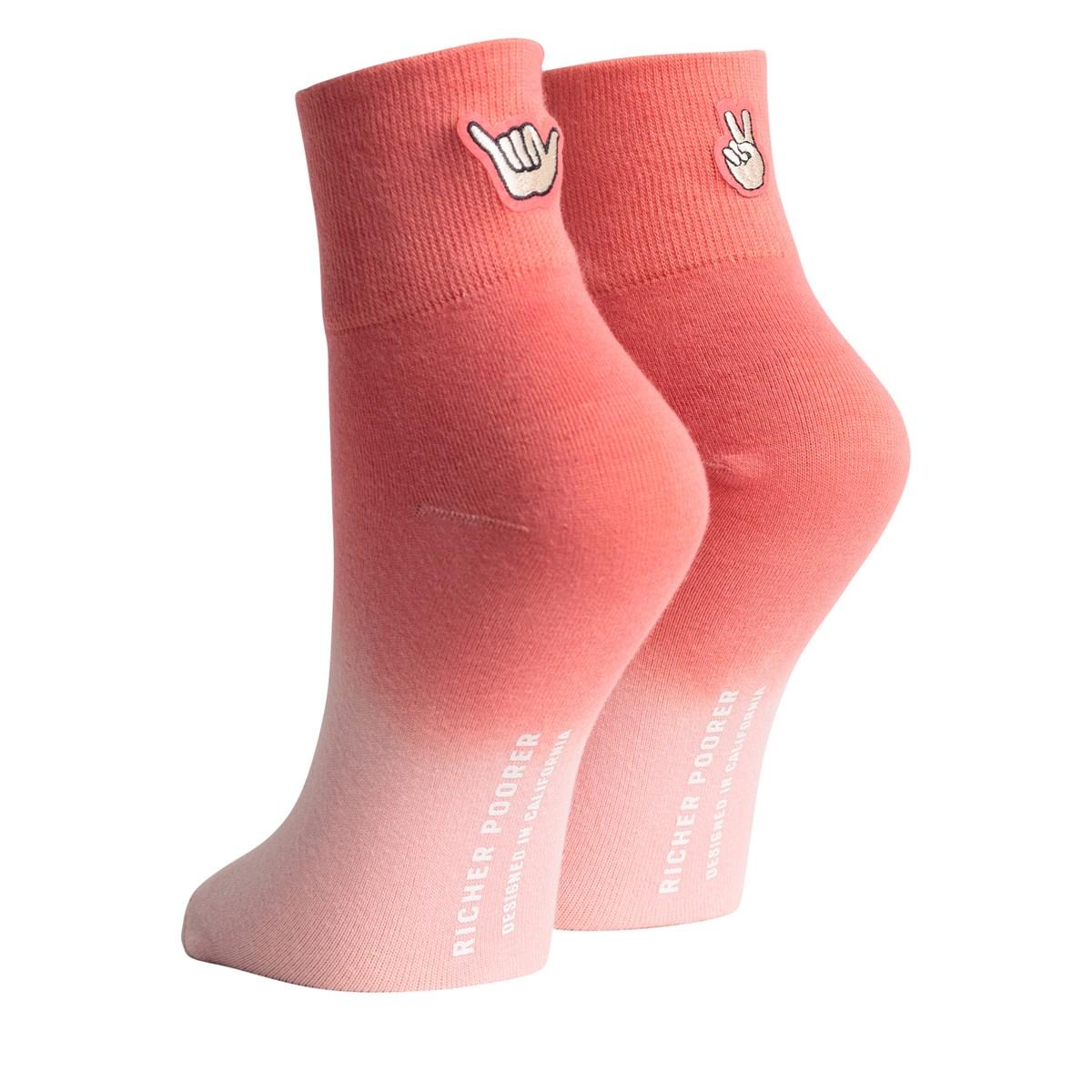 Chaussettes Cheek roses pour femmes