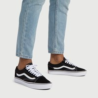 Men's ComfyCush Old Skool Sneakers in Black