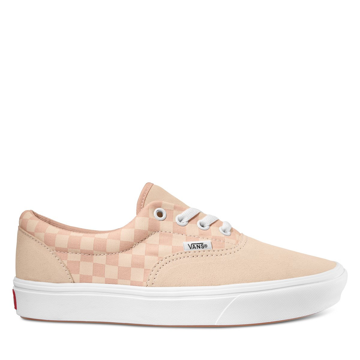 Women's ComfyCush Checkerboard Era Sneakers in Pink