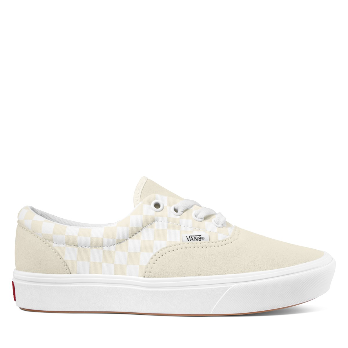 Women's ComfyCush Checkerboard Era Sneakers in Beige