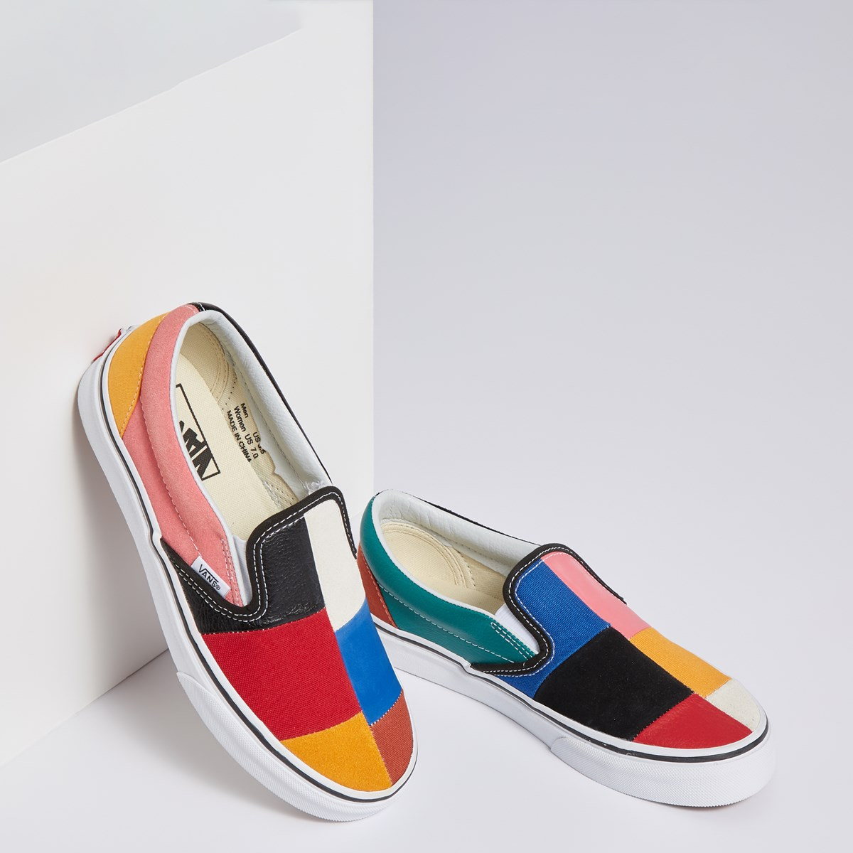 Women's Patchwork Classic Slip-On Sneaker