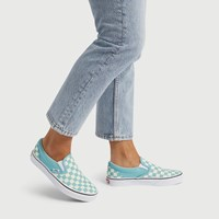 Women's Classic Checkerboard Slip-On in Aqua