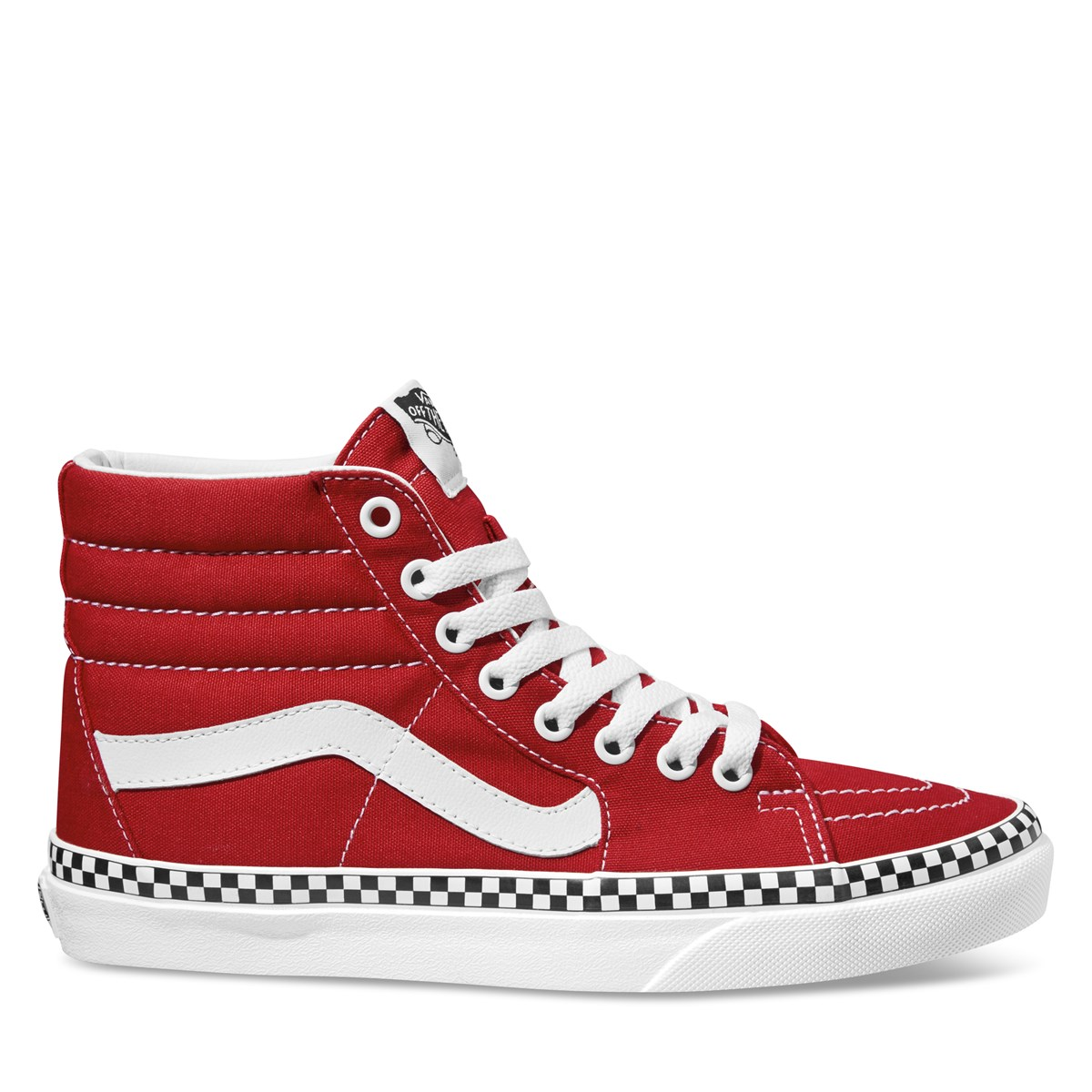Women's Sk8 Hi  Checkerboard Red Sneaker