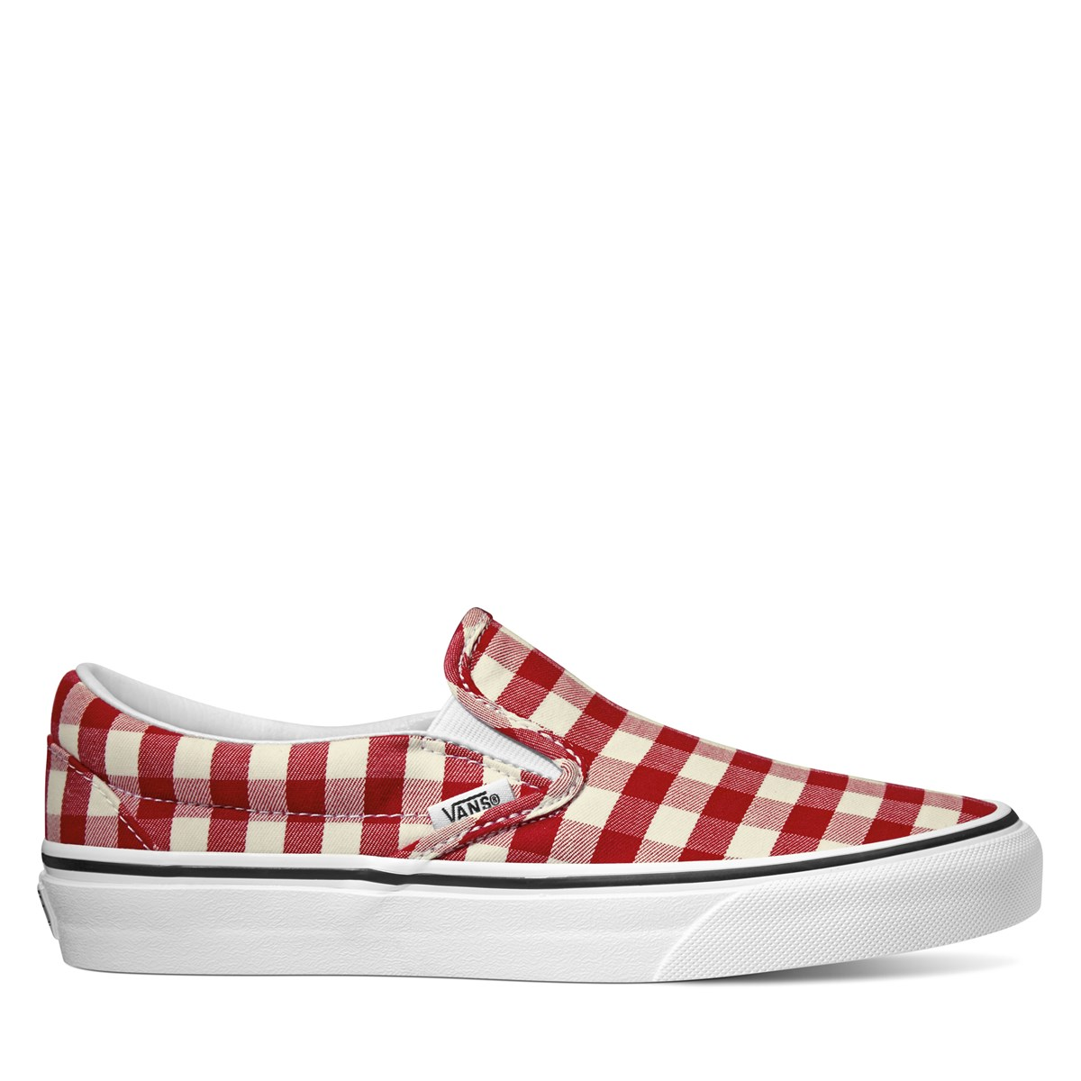 Women's Class Slip- On in Gingham Red