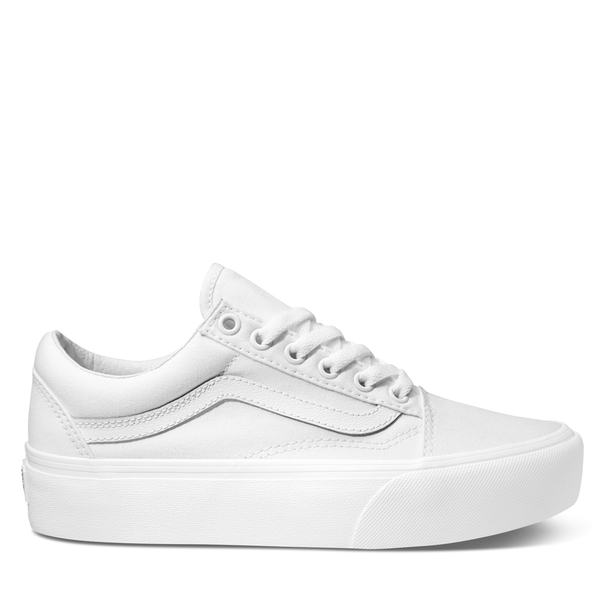Women's Old Skool Platform in White