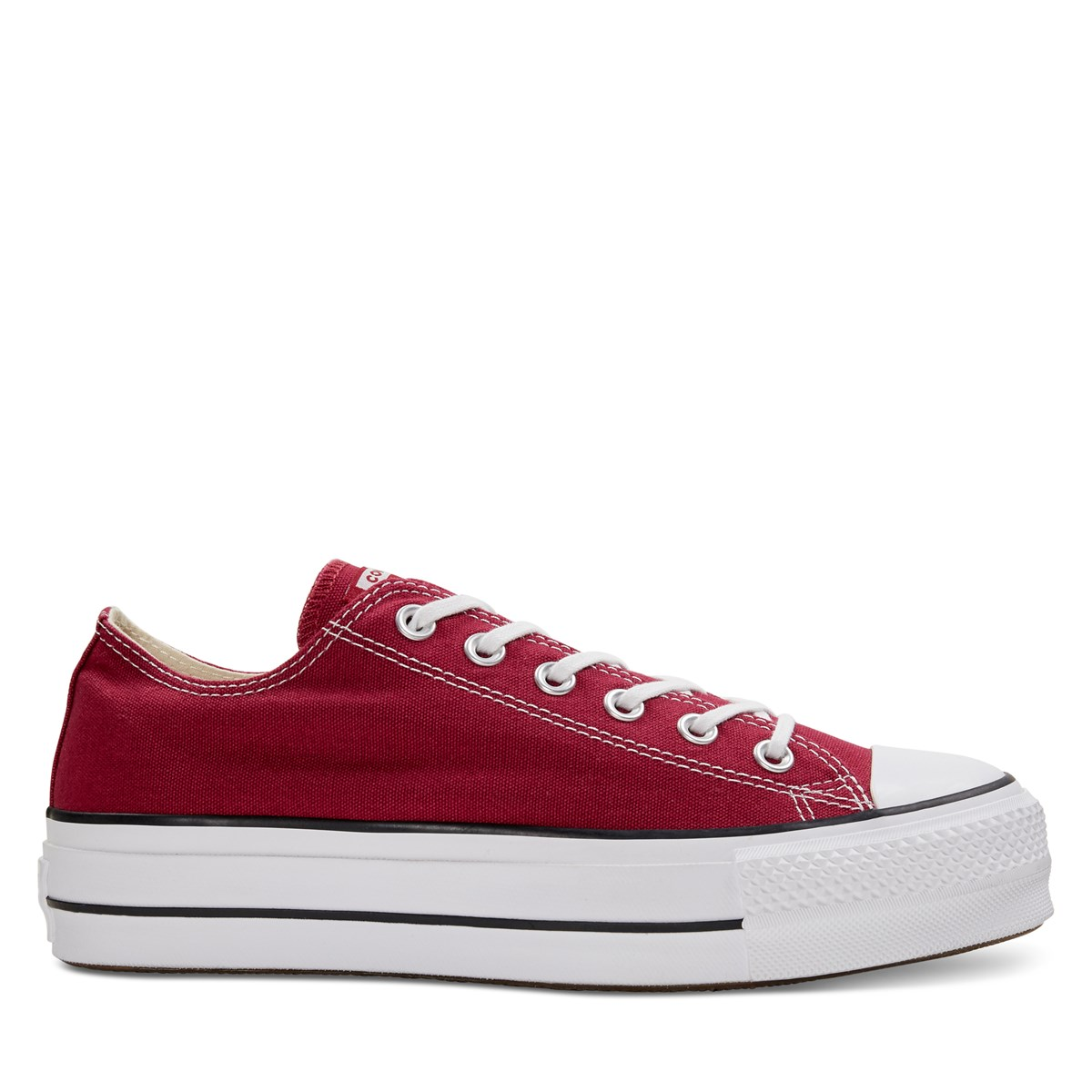 Women's Chuck Taylor All Star Platform Low Top Sneakers in Red