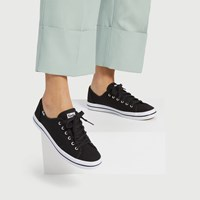 Women's Kickstart Canvas Sneakers in Black