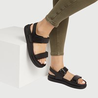 Women's Erin Multi Strap Sandals in Black