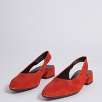 Women's Joyce Slingback Heels in Tangerine
