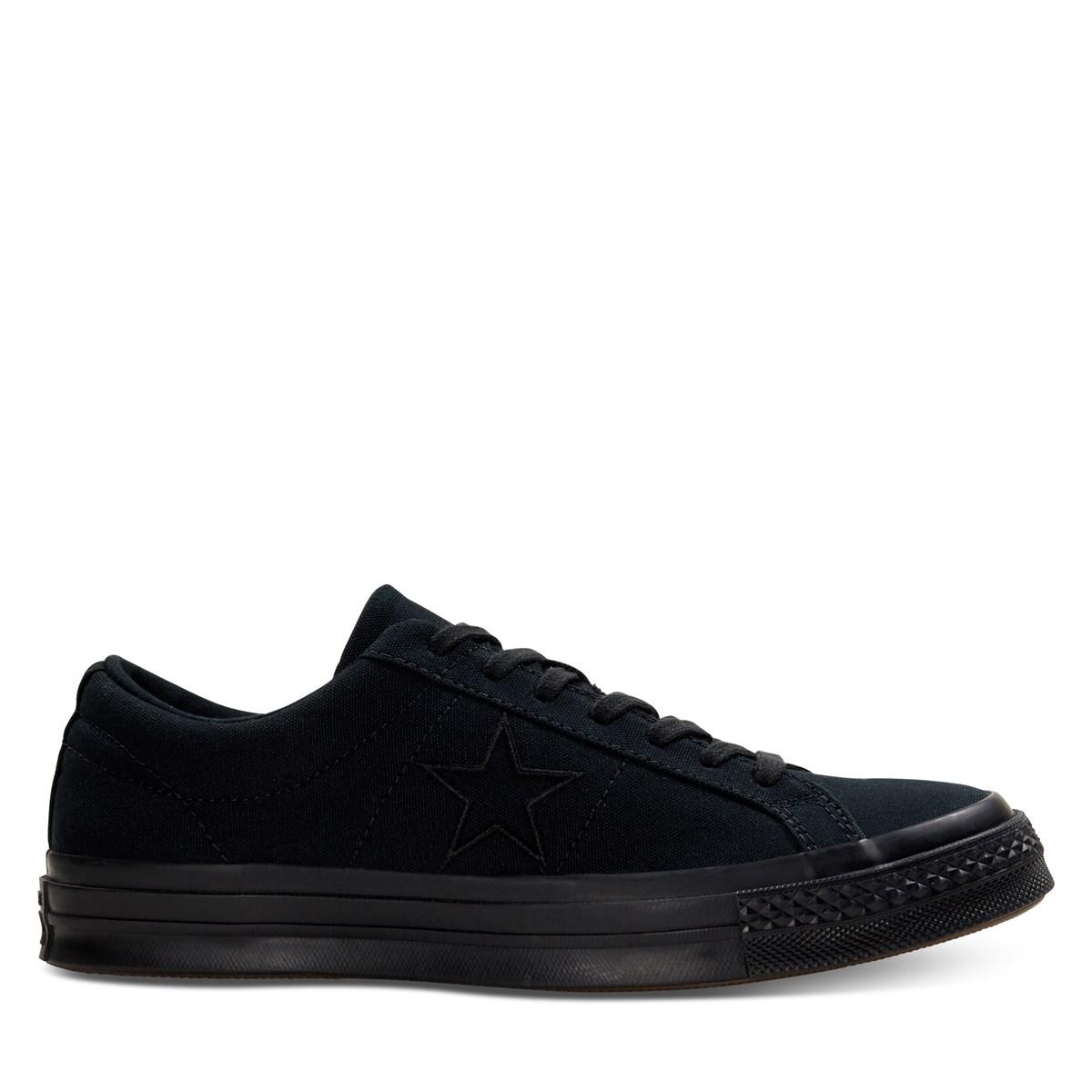 Men's One Star Sneaker in Black