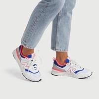 Baskets 997 blanc et bleu pour femmes