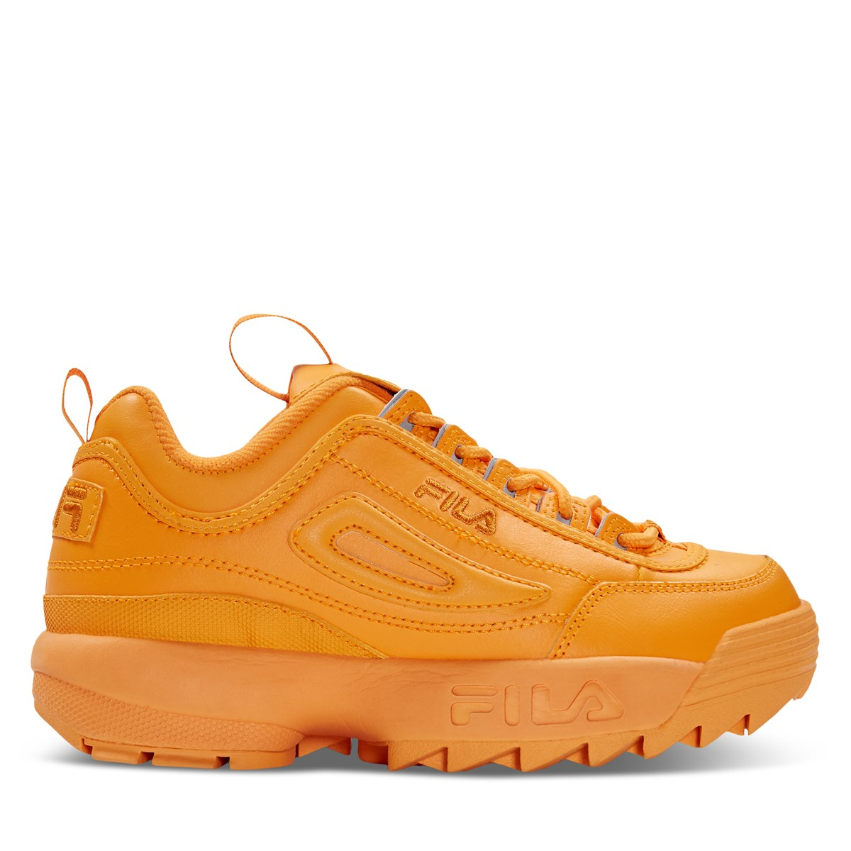 Women's Disruptor II Premium Sneakers in Orange