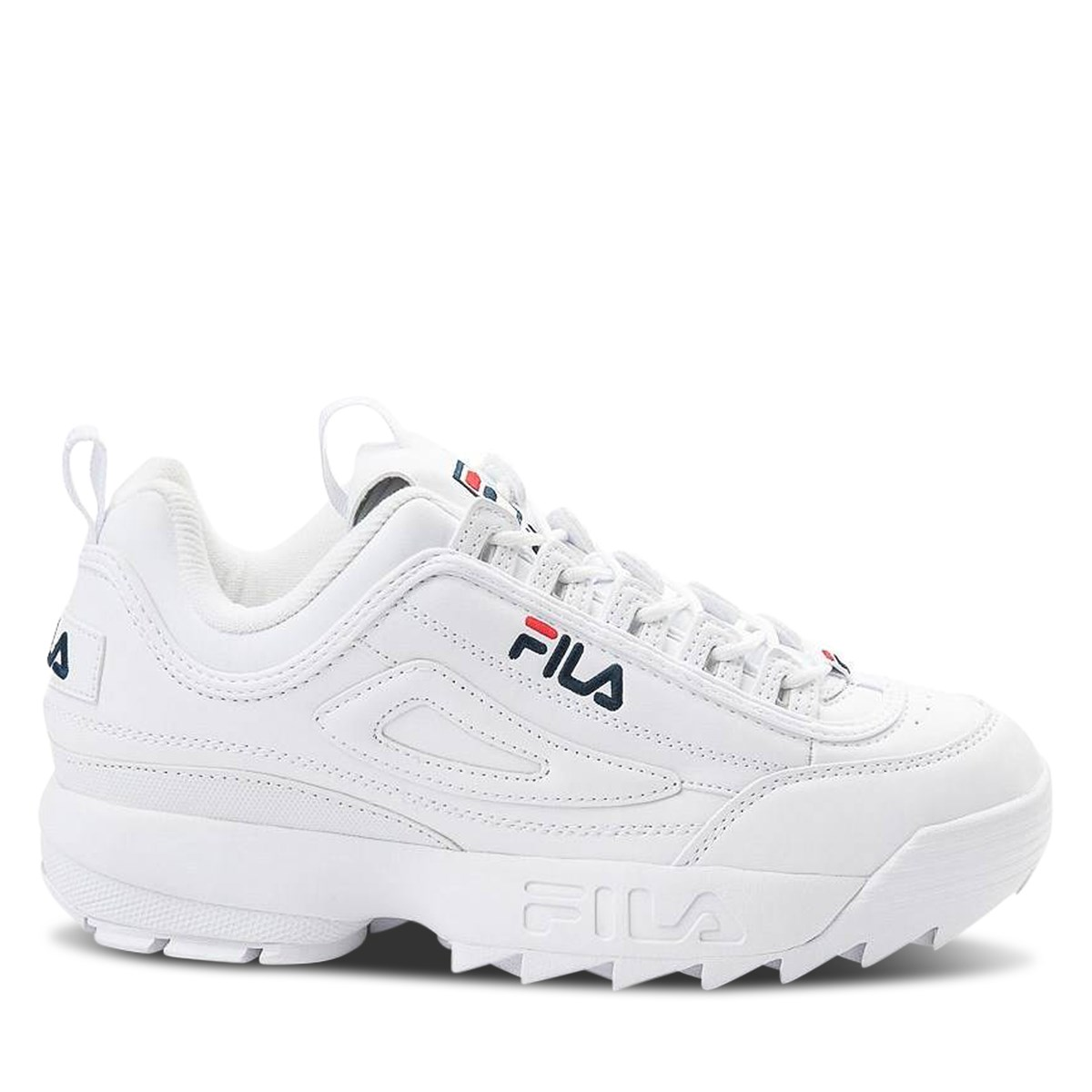 Men's Disruptor II Premium Sneakers in White