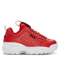 Women's Disruptor II Premium Sneakers in Red